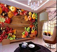 Ytdzsw Große Holz Gemüse & Obst Tapete Mural 3D