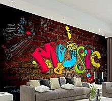 Ytdzsw Große Scawl Music 8D Graffiti-Wandgemälde