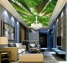 Ytdzsw Grüne Bäume Wald Wandbild 3D Wandbild