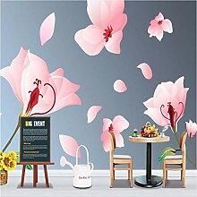 Ytdzsw Handmalerei Rose Blume Wandbild Fototapete