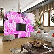 Ytdzsw Lila Blumen Wandbild 3D Fototapeten Tapete