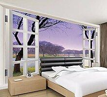 Ytdzsw Lila Rahmen Fenster Landschaft Landschaft