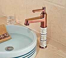 Ytdzsw Luxus Rose Gold Messing Waschbecken