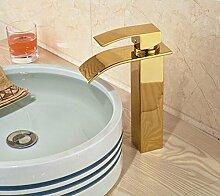 Ytdzsw Messing Vergoldet Wasserfall Waschbecken