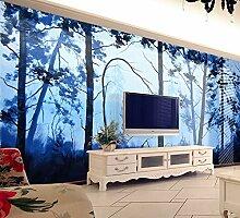 Ytdzsw Naturlandschaft Tress Blau 3D Wandbild