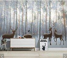 Ytdzsw Nordic Wald Holz Planke Tapete Wandbild