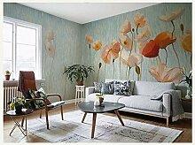 Ytdzsw Original Design Lotus Flower Murals