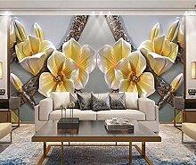 Ytdzsw Relief Magnolia 3D Blume Tapete Wandbilder