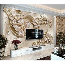 Ytdzsw Tapete Benutzerdefinierte 3D Jewel Blumen