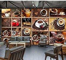 Ytdzsw Vintage Kaffeebohne Tapete Wandbild Für