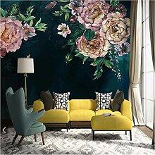 Ytdzsw Vintage Pfingstrose Blumen Wandbilder