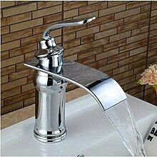 YTYASO Waschbecken Wasserhahn Massiv Gerieben