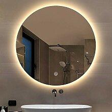 YUANJJ Moderner Runder Spiegel - LED Beleuchtung