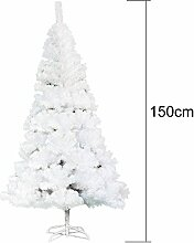 Yuanline 150 cm Weihnachtsbaum Weiß/Grün