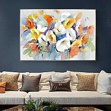 YuanMinglu Aquarell Blumen Ölgemälde Wand
