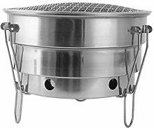 YUANP Barbecue Tragbare Edelstahl Faltgrill