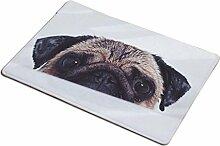 Yuanqi carpet Fußmatten, Flanell Rechteck Hund