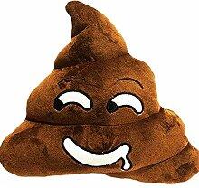 YuanS Emoji Braun Rundes Kackhaufen Plüsch PP Baumwolle Kissen Spielzeug, Poop kissen 35CMx30CM (Poo Style)