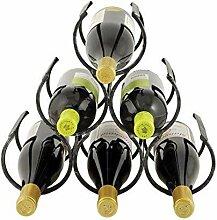 Yuany Eisen Weinregal Für 6 Flaschenhalter
