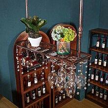 Yuany Flasche Weinregal, Eisen hängen Weinglas
