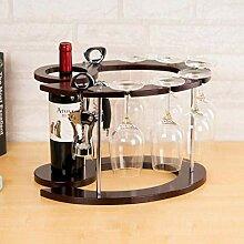 Yuany Flasche Weinregal, Holz Weinregal unter
