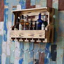 Yuany Flasche Weinregal, Weinhalter Wand Holz