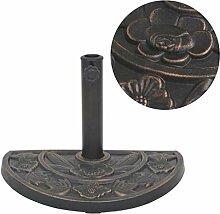 Yuany Sonnenschirm Basisharz Halbrund Bronze 9 kg