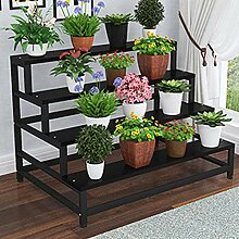 YUANYI Bambus Blume Rack Stand Regal Pflanze Topf