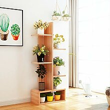 YUANYI Holz Blumenregal Regal Pflanze Topf Display