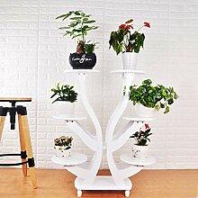 YUANYI Holz Blumenständer Garten Regal Pflanze