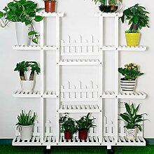 YUANYI Schiebeleiter Blumenständer Regal Pflanze