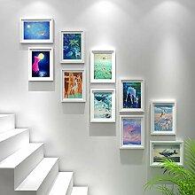 YUBIN Bilderrahmen-Set 10 Rahmen, Fotowand Aus