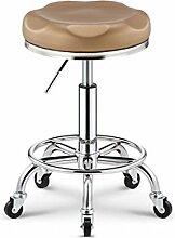 YUBINbayi YUBIN Schönheits-Schemel-Weinlese-Frisurn-Stuhl-Friseur-Vorlagen-Schemel, Der Stuhl-Friseursalon-Massage-Frisurn-Stuhl-Nagel-Schemel Dreht (Farbe : H)