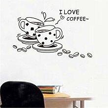 YUCH Liebes-Kaffee-Wand-Aufkleber Können