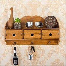 Yudanwin Lagerregal Punch-Free Holzwand Dekoration