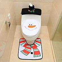 Yudanwin Weihnachtsschmuck Toilettenset Sitzbezug