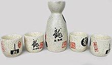 Yudu 5 TLG.Sake Set Asia Geschirr Service