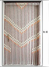 Yudu Türvorhang Vorhang mit Holzperlen Handarbeit