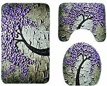 Yue Lian Badezimmer Teppich 3-teilig Bodenmatten
