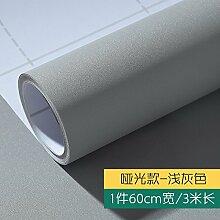 YUELA Die Einrichtung ist ein Sonnenschutz Sonnenschirm Aufkleber Aufkleber auf dem Glas Fenster Badezimmer Fenster Wand Wood-Grain Papier Tapete Selbstklebende, Matt, Hellgrau 60 Cm W/3 M LANG, Groß