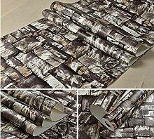 YUELA Steinwand-Papier-Brick-Tapete für