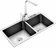 YUESFZ Küchenspülen Verbundspüle Auflage Siphon
