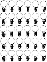 yueton 30 Stück Metall-Vorhang-Clips mit Ring.
