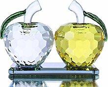 YUFENG Glas-Figur Apfel Briefbeschwerer für