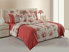Yuga 100% Baumwolle Rosa Mit Blumen Und Maroon Dekorative Kissen Bezüge 2 Stück Wohnkultur Kissen Wurf- 16 x 16 Inches