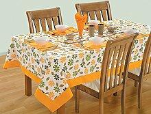 Yuga 100% Cotton Tischdecke für 6 Chair Kleine rechteckige Tabelle gedruckte Tischdecke Tischwäsche 54 X 78