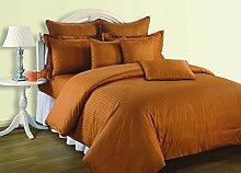 Yuga 3 teiliges Set Of King Size Cotton orange Bettlaken mit Dekorative Kissen Covers