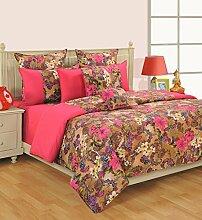 Yuga bedruckter Baumwolle Spannbetttücher Bettlaken mit Gummizug 2 Kissenbezug 72 X 75 X 10 Zoll