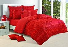 Yuga bedruckter Baumwolle Spannbetttücher Gummizug Safran Bettlaken mit 2 Kopfkissenbezug 72 X 75 X 10 Zoll