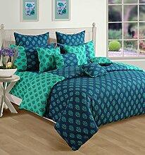 Yuga Dekor bedruckten Baumwoll dekorative Queen-Size-Bett Bettbezug Set 90 X 100 Zoll